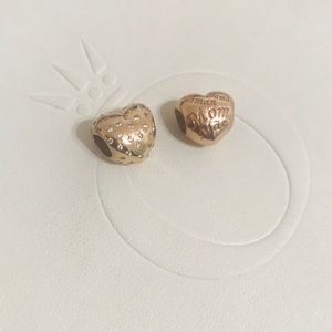 New Authentic Pandora Rosegold heart charms.